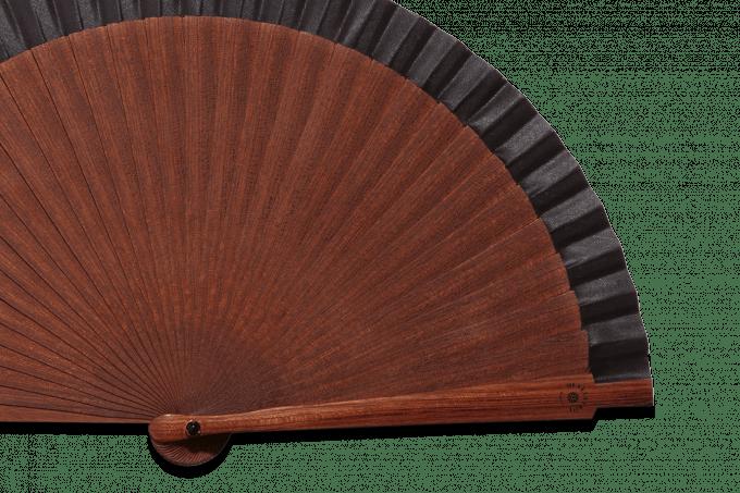 Éventail Pocket Fan Noir détail