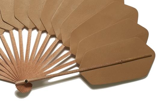 Palmette cuir beige détail
