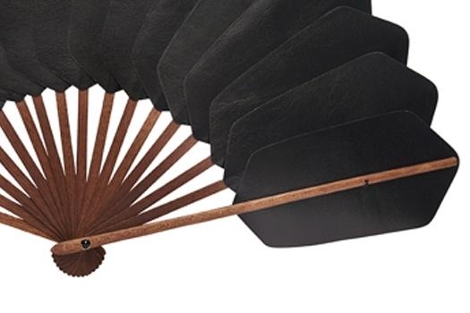 Palmette cuir noir détail