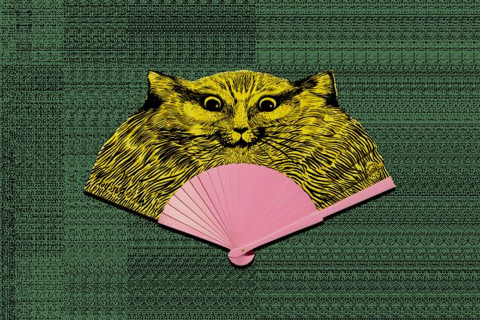 Éventail Léon le chat